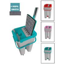 MOP Limpeza 360 Com Balde 8L + 1 Refil de Microfibra - Belakaza BK3627SK Cores Sortidas -