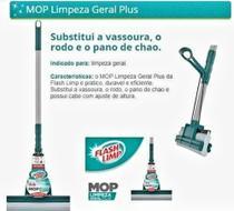Mop Limpeza Geral Plus  Flash Limp - Rodo Mágico Sekito -