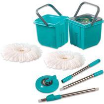 Mop Premium Limpeza Prática Mor Cesto Inox Com 2 Refis - Vendasshop utensilios de limpeza
