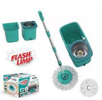 MOP PRO Flash Limp Esfregão Giratorio Centrifuga Spin 360 Balde Inox MOP7824 -