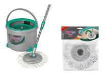 Mop Spin Twister Noviça Bettanin 360 6 L + Refil Mop Extra -
