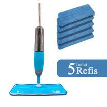 Mop Spray 5 Refis Esfregão Vassoura Mágica de Microfibra Com Reservatório - Westing