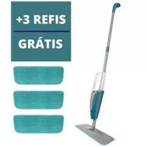Mop Spray Esfregão Vassoura Com Reservatório com  3 Refil Microfibra Boni - 123 Útil
