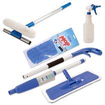 Mop Spray Vassoura C/ Reservátorio, Borrifador, Rodo Limpa Vidros - Vendasshop Utensilios De Limpeza