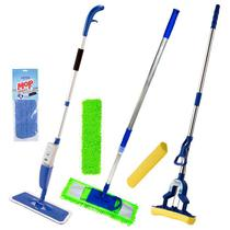 Mop Tira Pó 60 Cm, 1 Rodo Dobrável, 1 Spray Mop Bompack C/Refis - Vendasshop Utensilios De Limpeza