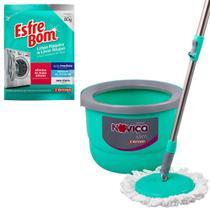 Mop Twister Slim 12l Limpador Pisos + Limpa Máquina Bettanin -