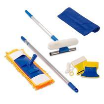 Mop Vassoura Tira Pó, Limpador Magnético, Rodo Limpa Vidros, Toalha Microfibra - Vendasshop Utensilios De Limpeza