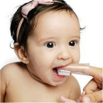 Mordedor Escova Massageadora de gengivas do bebe de silicone - Lolly