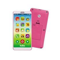Mordedor para bebe buba formato de celular - baby phone rosa -