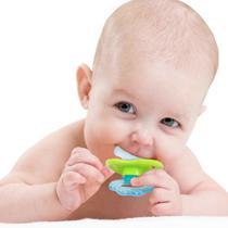 Mordedor Para Bebe com Massageador de Gengiva Azul 4m+ Buba 5822 - Buba toys