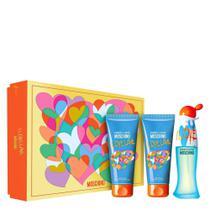 Moschino Cheap  Chic KIT I Love Love Feminino -  50ml + Hidratante 100ml e Gel de Banho 100ml -