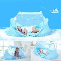 Mosquiteiro Cama Berço Tenda Cama Infantil Portatil Azul (888461) (MC40476) - M&C