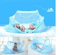 Mosquiteiro Cama Berço Tenda Cama Infantil Portatil Azul (888461) (MC40476) - Oem