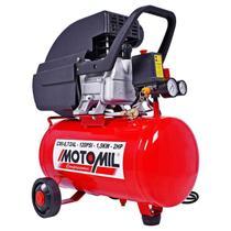 Moto Compressor de Ar 8,7 PÉS 24 Litros com Óleo CMI-8,7/24 MOTOMIL -