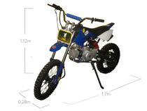 Moto Cross Trilha 125cc a Gasolina BZ Terra Automática com Partida Elétrica Azul BARZI MOTORS -