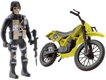 Moto de Brinquedo Comando Trail Roda Livre - Samba Toys com Acessório -