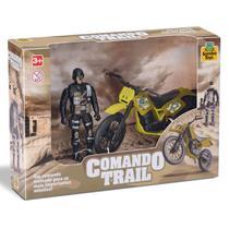 Moto de brinquedo infantil + boneco comando trail samba toys -