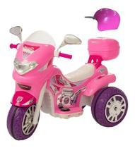 Moto Elétrica 12v Infantil Sprint Menina com Capacete e Farol - Biemme