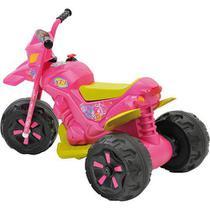 Moto Elétrica 6V Infantil XT3 Fashion Rosa  Bandeirante -