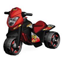 Moto Elétrica 6V - Motoban - Preto e Vermelho - Bandeirante -