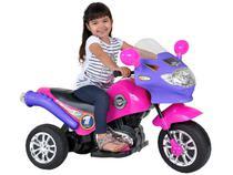 Moto Elétrica 6V Speed Chopper Rosa  - Homeplay