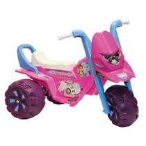 Moto Elétrica 99cm Feminina Infantil Até 35kg 6v Menina Rosa - Biemme
