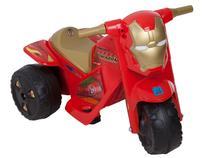 Moto Elétrica Avengers Homem de Ferro 2 Marchas - Carenagem Personalizada Removível 6V Bandeirante
