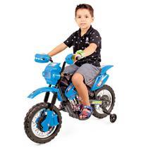 Moto Elétrica Homeplay Infantil Motocross Azul - 241 -