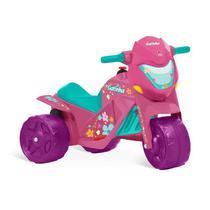 Moto Elétrica Infantil Banmoto Rosa Gatinha Bandeirante -