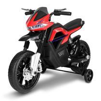 Moto Elétrica Infantil Big Trail Vermelha 6V Com Entrada Auxiliar MP3 USB - Bel fix