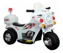Moto eletrica infantil branco - importway -