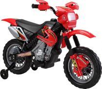 Moto Elétrica Infantil com Farol e Buzina Vermelha 925800 - Belfix. - Bel fix