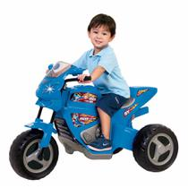 Moto elétrica infantil max turbo azul 6v magic toys