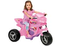Moto elétrica infantil meg turbo rosa 6v magic toys