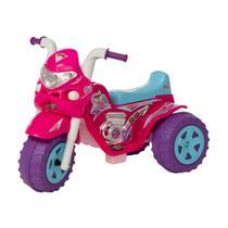 Moto eletrica infantil meninas gp raptor super girl 6v com som e luz - Biemme