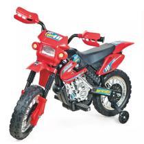 Moto eletrica infantil menino motocross vermelho - Homeplay