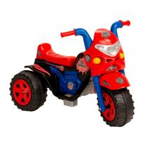 Moto eletrica infantil meninos spider aranha gp raptor 6v com som e luz - Biemme