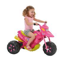 Moto Elétrica Infantil - Moto XT3 Fashion - 6v - Rosa - Bandeirante -