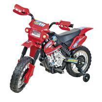 Moto Elétrica Infantil Motocross 6V Vermelha Homeplay -
