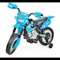 Moto eletrica infantil motocross azul - Homeplay