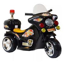 Moto Elétrica Infantil Preta Com Luzes Efeitos Sonoros 6V Certificado Inmetro - Iw