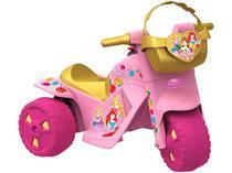Moto Elétrica Infantil Princesas Disney 2 Marchas - 6V Bandeirante