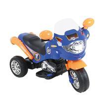 Moto Elétrica Infantil Speed Chopper 6V Azul E Laranja Homeplay -