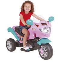Moto Elétrica Infantil Speed Chopper 6V Rosa E Turquesa Homeplay -