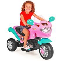 Moto Elétrica Infantil Speed Chopper Rosa - Homeplay -
