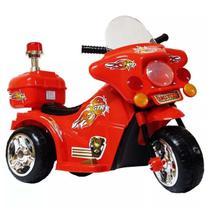 Moto Elétrica Infantil Vermelha Com Luzes Efeitos Sonoros 6V Certificado Inmetro - Iw