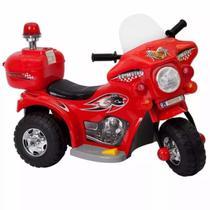 Moto Elétrica Infantil Vermelha Com Luzes Efeitos Sonoros 7,5V Certificado Inmetro - Iw