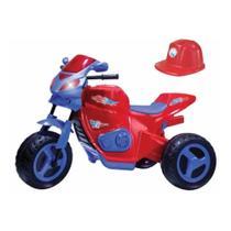 Moto eletrica max turbo c/ capacete vermelho 6v - magic toys -
