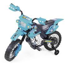 Moto Elétrica Motocross Azul - Homeplay