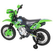 Moto Elétrica Motocross Verde - Homeplay -